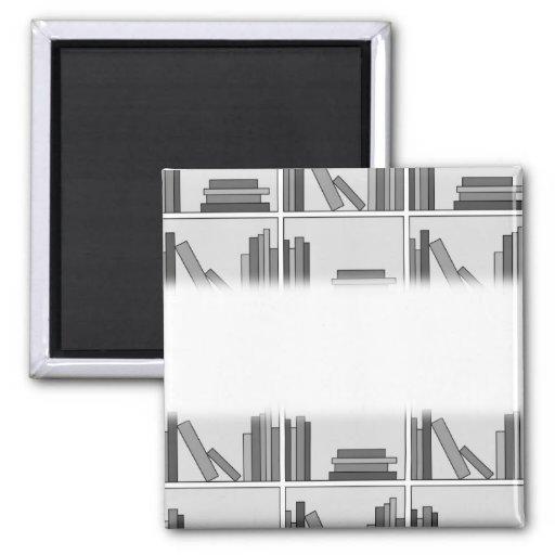 Books on Shelf. Monochrome. Magnet