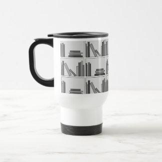 Books on Shelf Monochrome Coffee Mugs