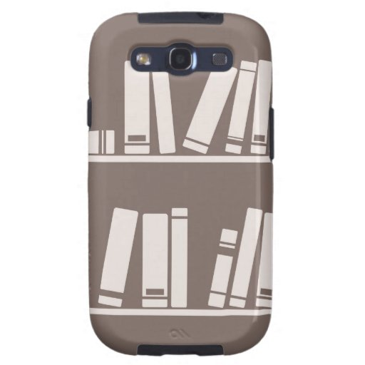 Books on the shelf for reading lover or wise guy samsung galaxy SIII case