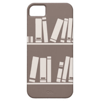 Books on the shelf for reading lover or wise guy iPhone 5 cases