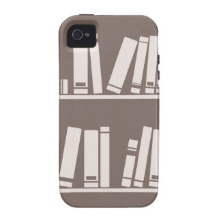 Books on the shelf for reading lover or wise guy iPhone 4 cases