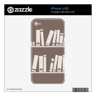 Books on the shelf for reading lover or wise guy decal for iPhone 4