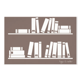 Books on the shelf for reading lover or wise guy stationery