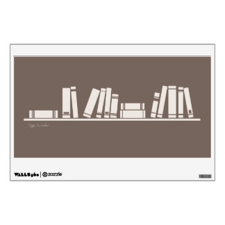 Books on the shelf for reading lover or wise guy wall decal