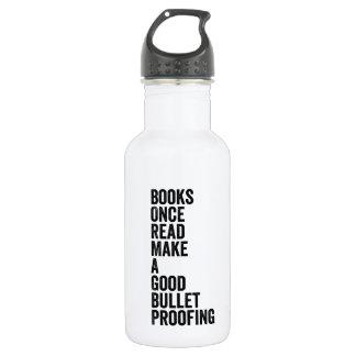 Books, Once Read Water Bottle