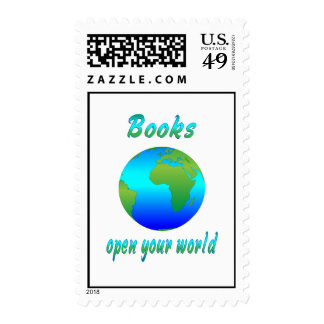 Books Open Worlds Stamps