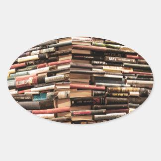 Books Oval Sticker