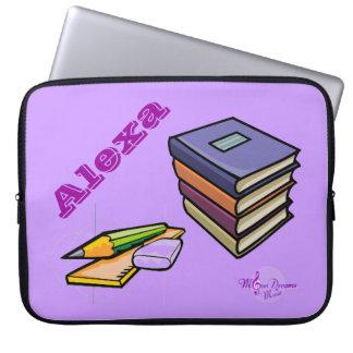 Books, Pencil & Ruler Customizable Laptop Sleeve