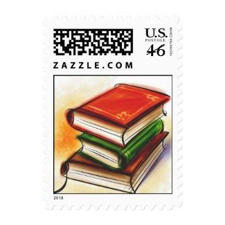 Books Postage Stamp stamp