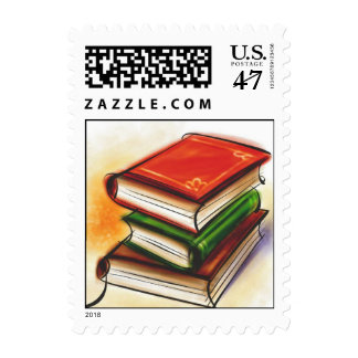 Books Postage Stamp