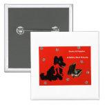 Books & Puppies Pinback Button
