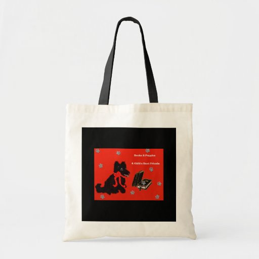 Books & Puppies Tote Bags