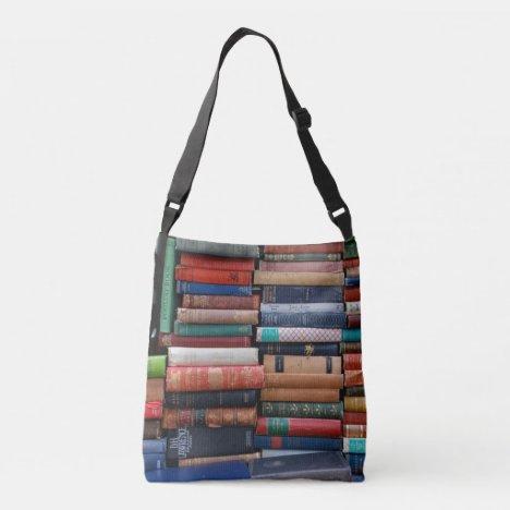 Books Read Love Old Books Crossbody Bag