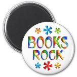 BOOKS ROCK 2 INCH ROUND MAGNET