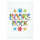 "BOOKS ROCK 5"" X 7"" INVITATION CARD"
