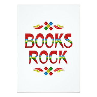 Books Rock Custom Invites