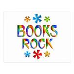 BOOKS ROCK POSTCARD