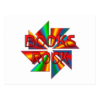 Books Rock Post Cards