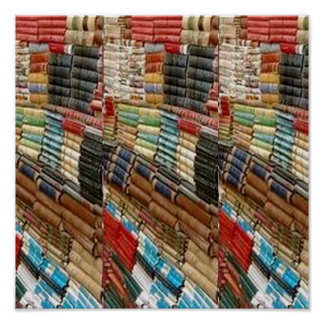 Books shelf library reader math science nature fun poster