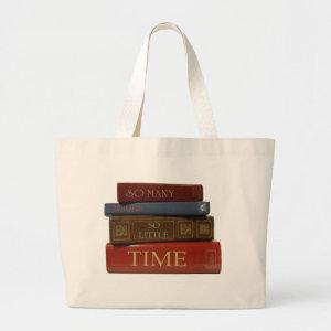 BOOKS So Many Books So Little Time bag