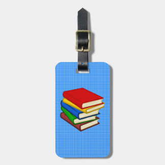 BOOKS STACKED BAG TAG