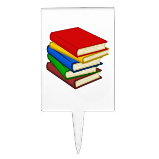 BOOKS STACKED CAKE TOPPER