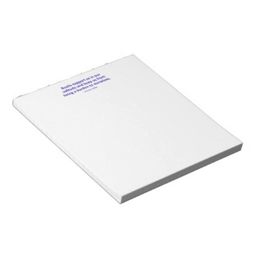 Books Support Us In Our Solitude Memo Note Pad
