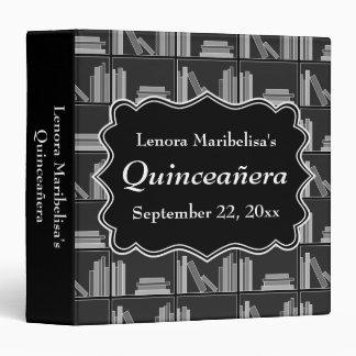 Books Theme Quinceanera Binder