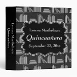 Books Theme Quinceanera Binders