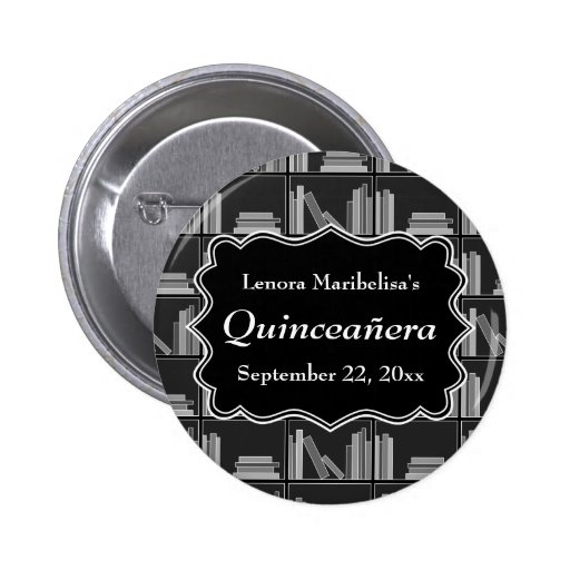 Books Theme Quinceanera Pins