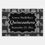 Books Theme Quinceanera Signs