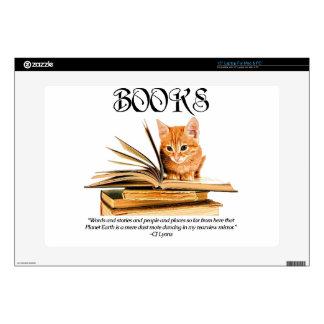 Books Transport Us... Vinyl Laptop Skin