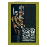 Books Wanted for Our Men Cards