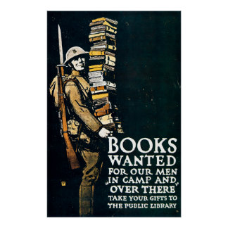 Books Wanted - Vintage World War I Poster