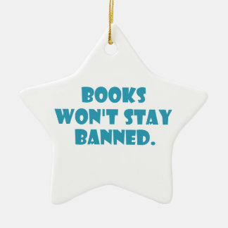 Books Won't Stay Banned Christmas Tree Ornaments