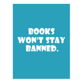 Books Won't Stay Banned Post Cards