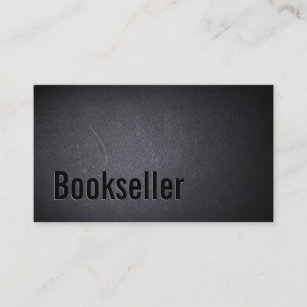 Bookseller business cards templates zazzle bookseller buy sell used books elegant dark business card reheart Gallery