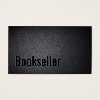Bookseller Buy & Sell Used Books Elegant Dark Business Card