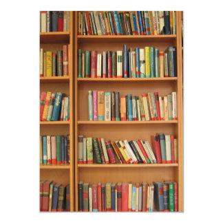 Bookshelf background 5x7 paper invitation card