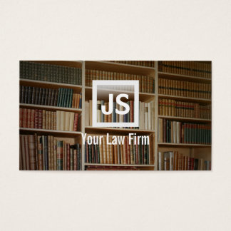 Bookshelf Background Attorney/Lawyer Business Card