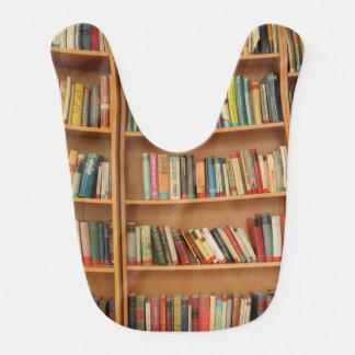 Bookshelf background baby bib