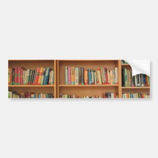 Bookshelf background bumper stickers