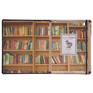 Bookshelf background iPad folio case