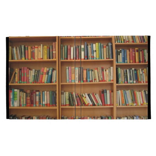 Bookshelf background iPad folio cover