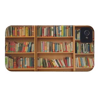 Bookshelf background iPhone 4 cases