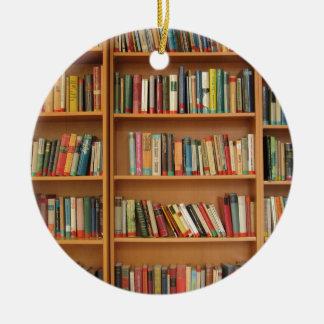 Bookshelf background ceramic ornament
