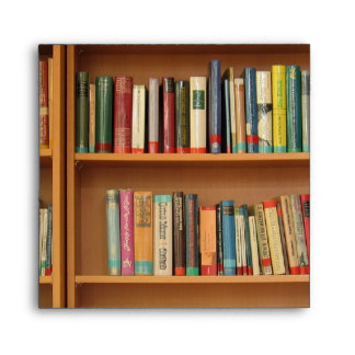 Bookshelf background envelope
