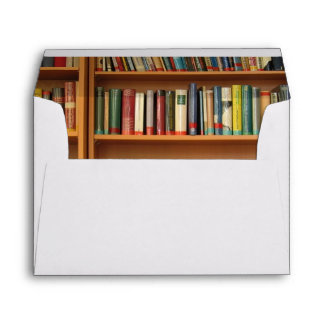Bookshelf background envelope