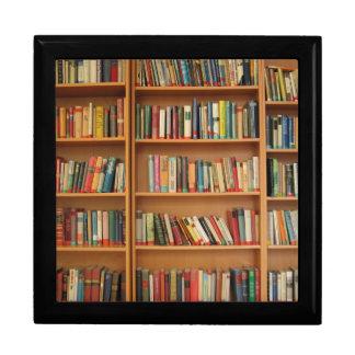 Bookshelf background gift box