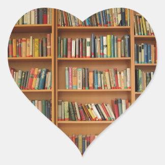 Bookshelf background heart sticker